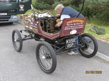 Steam Car John O Groats to Lands End