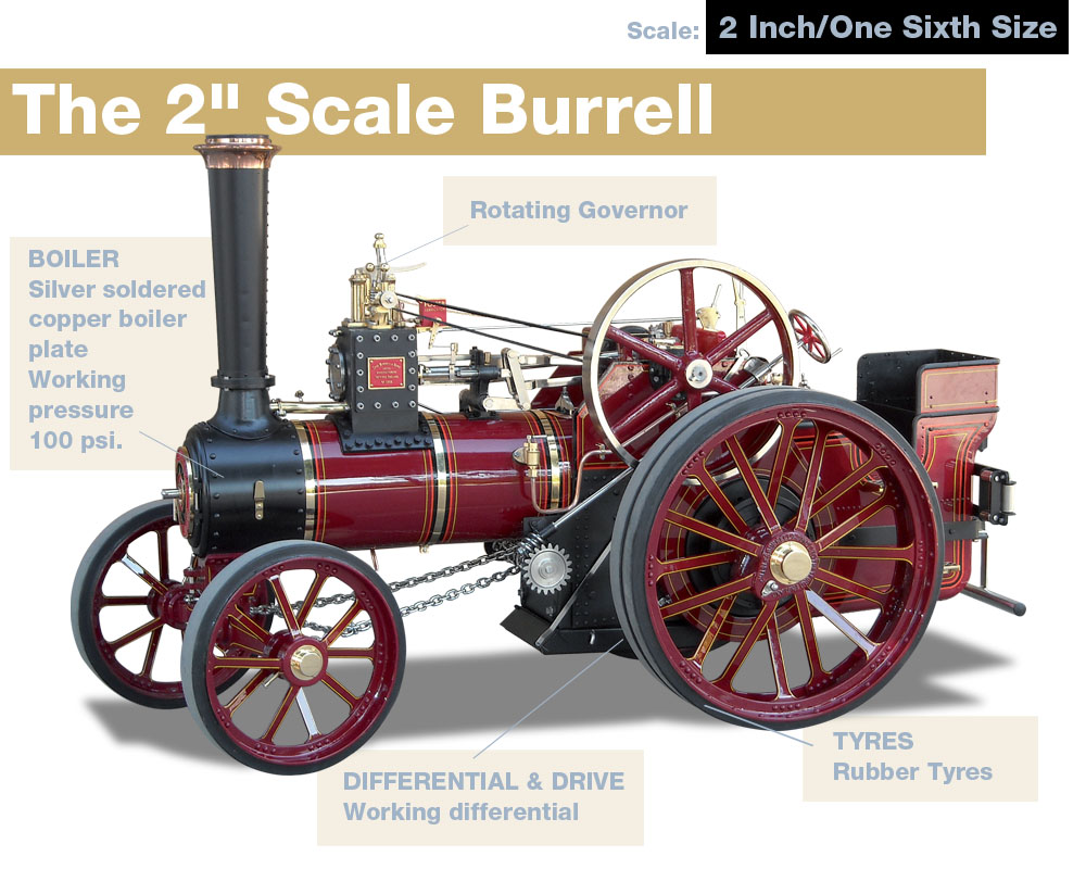 Steam Traction World Burrell 2 inch Engine