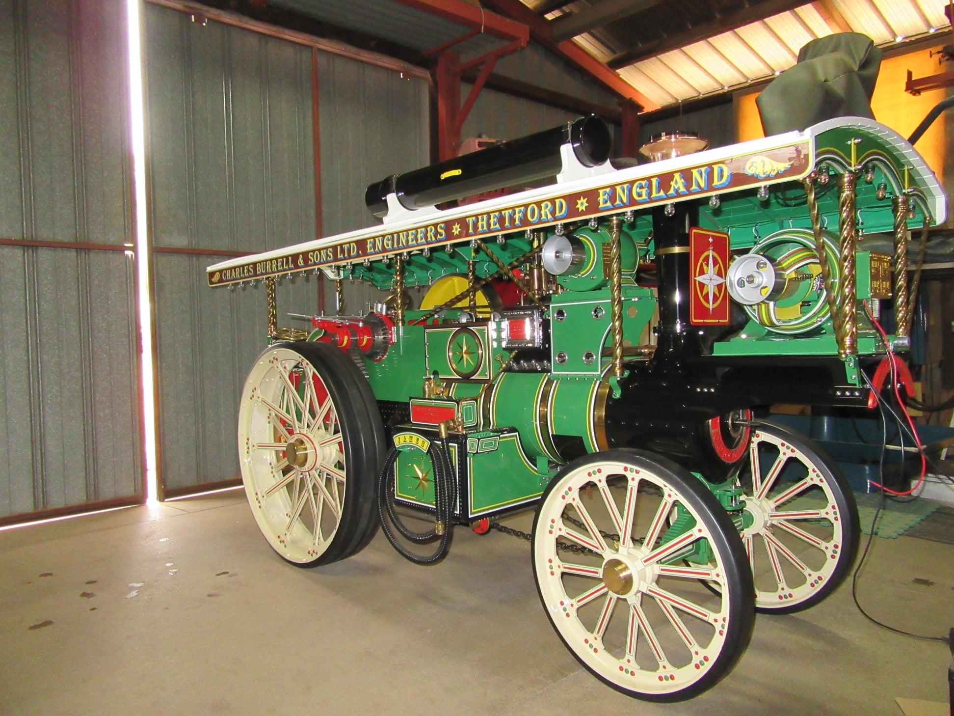 australia burrell steam engine